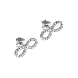 LOTUS SILVER Paar Ohrstecker JLP1253-4-1 LOTUS Silver Unendlich Ohrstecker (Ohrstecker), Ohrstecker für Damen 925 Sterling Silber, weiß, silber
