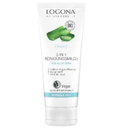 LOGONA 3 in 1 Reinigungsmilch Bio-Aloe Vera 100 ml