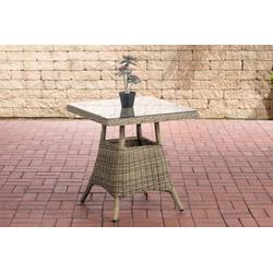 CLP Gartentisch Vaulen, quadratischer Gartentisch aus Polyrattan natur