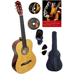 Clifton Konzertgitarre Konzertgitarren Set, Natur 4/4, Komplettset