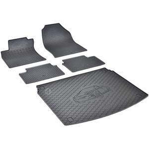 Passende Gummimatten und Kofferraumwanne Set geeignet für Kia X-Ceed ab 2019 EIN Satz + Gurtschoner