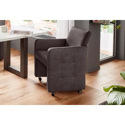 exxpo - sofa fashion Sessel, Breite 61 cm braun