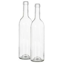Deko-Glasflaschen, 31,5 cm, 2 Stück