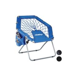 relaxdays Campingstuhl Bungee Stuhl WEBSTER blau 75 cm x 70 cm x 84 cm