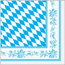 """Mank Servietten """"Eat&Drink"""", 3-lagig, 33 x 33 cm, 1 Karton = 6 x 100 Stück = 600 Stück, 1/4 Falz, Bayern"""