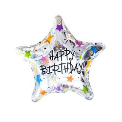 Happy Birtday Stern Folien Luftballon Geburtstag Kindergeburtstag Jubiläum silber