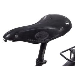 Gusti Leder Fahrradsattel Bernard H., Fahrradsattel Ledersattel Sattel Vintage-Sattel Retro-Sattel Fahrrad Braun Leder schwarz