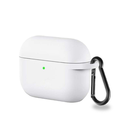 CoverKingz Etui Hülle für Apple AirPods 3 / AirPods Pro Silikon Bumper Case Cover Tasche Weiß Apple AirPods Pro / AirPods 3 weiß