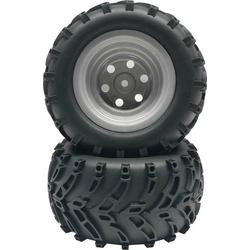 Reely 1:10 Monstertruck Reifen V-Line Disk Grau 2St.