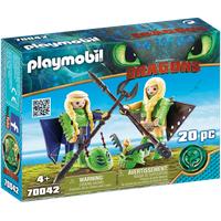 Playmobil Dragons Raffnuss und Taffnuss mit Fluganzug 70042
