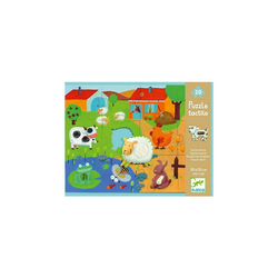DJECO Puzzle Riesen-Fühl-Puzzle Bauernhof, 20 Teile, Puzzleteile