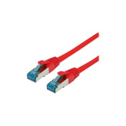 VALUE S/FTP Patchkabel Kat6A rot 0.3m PIMF SFTP 0,3 m Rot (21.99.1924)