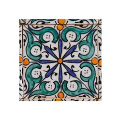 Casa Moro Fliesenaufkleber Orientalische Keramik Fliese Hudah 10 x 10 cm, handbemalte marokkanische Motiv Fliese, FL7060