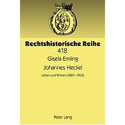Johannes Heckel. Gisela Emling  - Buch