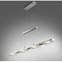 B K Licht B.K.Licht LED Pendelleuchte Aries, LED Deckenleuchte Design Pendel-Leuchte inkl. 18W 1600lm Hänge-Lampe Esszimmerlampe