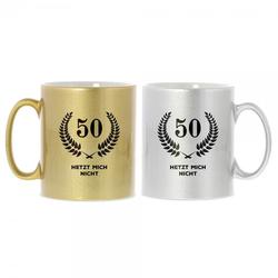 Keramiktasse zum 50. Geburtstag