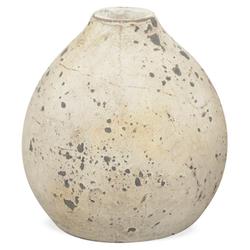 matches21 HOME & HOBBY Blumentopf Vase rund bauchig Blumenvase Antik Vintage Shabby 15 cm (1 Stück)