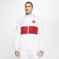 Türkei Fußball-Track-Jacket für Herren - Weiß, size: L