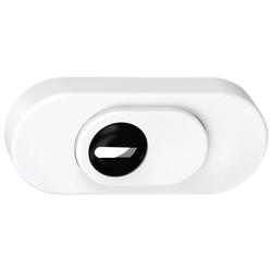 BASI Schutzrosette SR 100 ZA - Schutzrosette mit Zylinderabdeckung, 287 g weiß