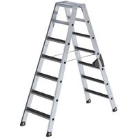 Günzburger Aluminium-Stufen-Stehleiter 2 x 7 Stufen (40214)