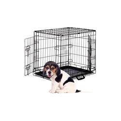 relaxdays Hundekäfig Faltbarer Hundekäfig Größe S-XXXL 61.5 cm x 47 cm x 55 cm