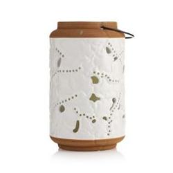 ELAMBIA LED-Kerze inkl. Keramik-Laterne Schmetterlinge Höhe 25,4cm, Ø 15,3cm