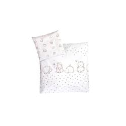 Julius Zoellner Bettwäsche in weiß mit Muster Igelchen, 80 x 80 cm