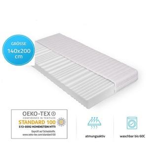 Komfortschaummatratze Ortho Basic, HOME DELUXE, 16 cm hoch, abnehmbarer Bezug 140 cm x 200 cm x 16 cm
