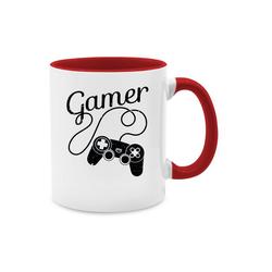 Shirtracer Tasse Gamer Motiv mit Controller - schwarz - Nerds & Geeks - Tasse zweifarbig - Tassen, gamer tasse