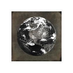queence Holzbild World, Weltkarte (1 Stück) 50 cm x 50 cm