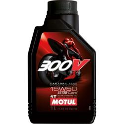 Motul 300 V 4T FL Raod Racing 15W50 Motorenöl , Hochleistungsmotorenöl speziell für Rennsportmotorräder mit 4-Takt-Motor, 1000 ml - Kanister