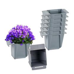 BigDean Blumenkasten Pflanzkasten Palette Mini Kunststoff Paletten Pflanzkübel Palettenkasten Palettenpflanzkasten (8 Stück)