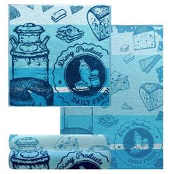 Lashuma Handtuch Set Käse (4-tlg), 2x Geschirrtücher 50x70 cm, 2x Küchenhandtücher 50x50 cm
