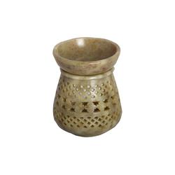 Casa Moro Duftlampe Orientalische Duftlampe Shakir-2 aus Soapstone geschnitzt 10x10x11 cm (B/T/H) Diffusor, Teelicht-Halter für Aromatherapie, Handmade Aromalampe, SL3020
