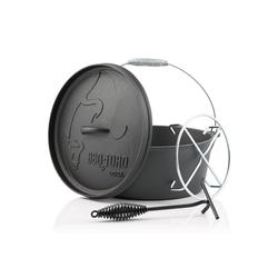 BBQ-Toro Feuertopf BBQ-Toro Dutch Oven DO9AX, 7,2 L Alpha Gusseisen Kochtopf, Gusstopf