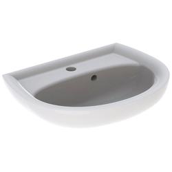 GEBERIT Waschbecken Renova Nr. 1, asymmetrisch, mit Hahnloch, mit Überlauf, weiß