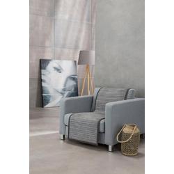 Sesselschoner Fano IBENA, mit modernen Streifen grau 050 cm x 200 cm