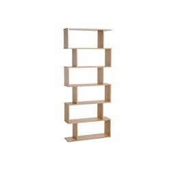 HOMCOM Bücherregal Bücherregal mit 6 Fächer braun