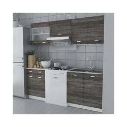 Küchenzeile 5-tlg. Wenge-Look VD08732 - Hommoo