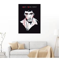 Posterlounge Wandbild, Leinwandbild Scarface (Englisch) 50 cm x 70 cm