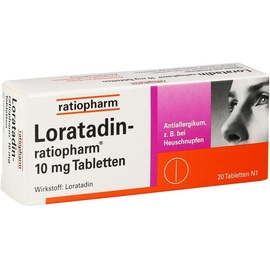 Ratiopharm LORATADIN-ratiopharm 10 mg Tabletten 20 St