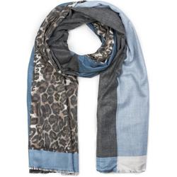 styleBREAKER Schal 3-farbiger Schal mit Leoparden Print 3-farbiger Schal mit Leoparden Print