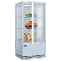Polar Kühlvitrine mit gebogenen Türen 86L