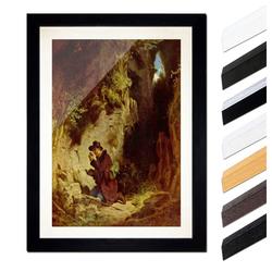 Bilderdepot24 Wandbild, Carl Spitzweg - Der Geologe bunt 30 cm x 40 cm