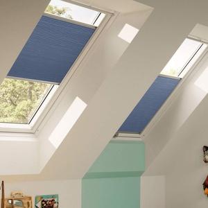 Orignal VELUX Wabenplissee / Faltstore DuoLine FHC Y85 1156S / Bedienart : Manuell / Farbe : Uni Blau / Fenstergröße : Y85 / Fenstertypen : VU, VL, VKU _15651