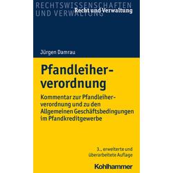 Pfandleiherverordnung als Buch von Jürgen Damrau