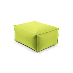 mokebo Pouf Der Ruhepouf, Outdoor Sitzkissen, Sitzhocker & Sitzpouf, in rund o. eckig & vielen Farben grün 65 cm x 35 cm x 50 cm