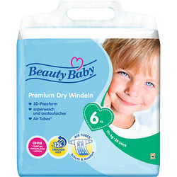 Beauty Baby Windeln Premium Dry Größe Gr.6 (13-18 kg) für Kleinkinder