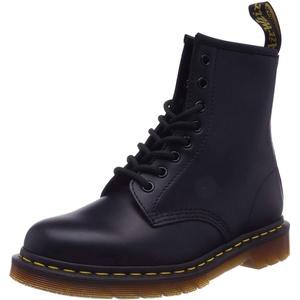Dr. Martens Damen 1460W Originals Eight-Eye Lace-Up Boot, 8-Loch, Stiefel, Schwarz glatt, 38 EU