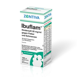 IBUFLAM Kindersaft 20mg/ml gegen Fieber u.Schmerz. 100 ml